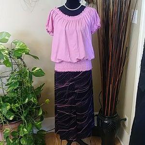 🍁3/$20 Briggs Black Maxi Skirt Sz XLP